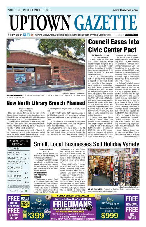 Uptown Gazette  |  December 6, 2013