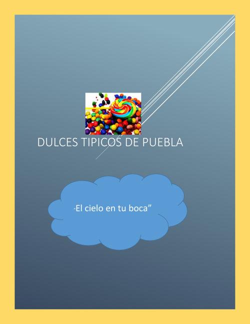 Dulces tipicos de Puebla