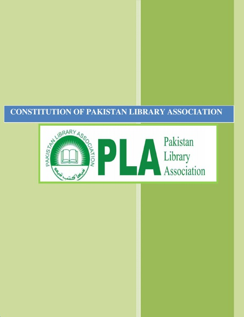 Constitution of Pakistan Library Asociation