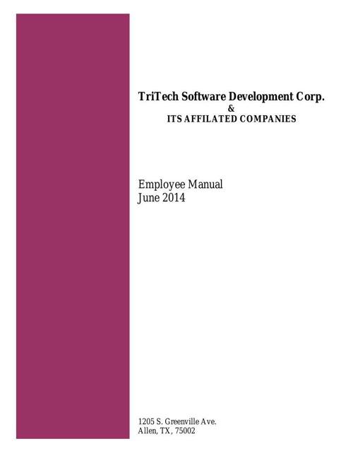 June 2014 Employee Manual