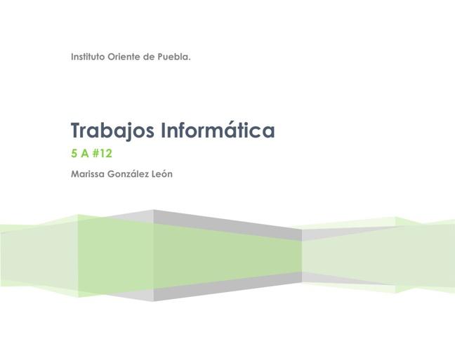 Revista Trabajos Informática.