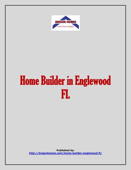 Home Builder in Englewood FL