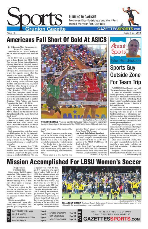 Gazette Sports | August 27, 2015