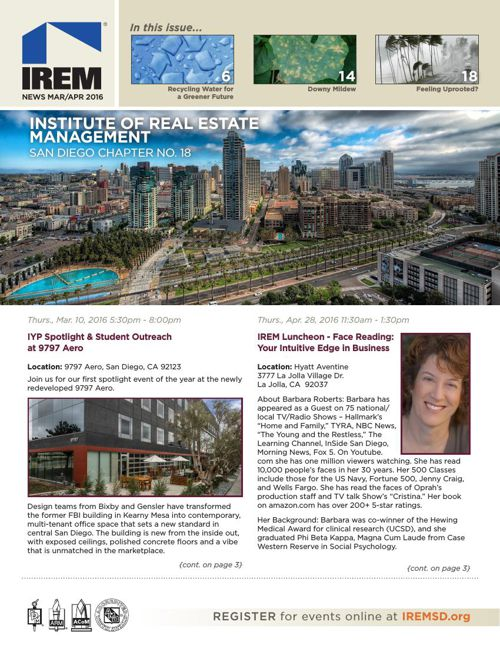 IREMSD Mar/Apr 2016 Newsletter