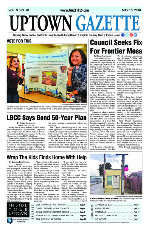Uptown Gazette  |  May 13, 2016