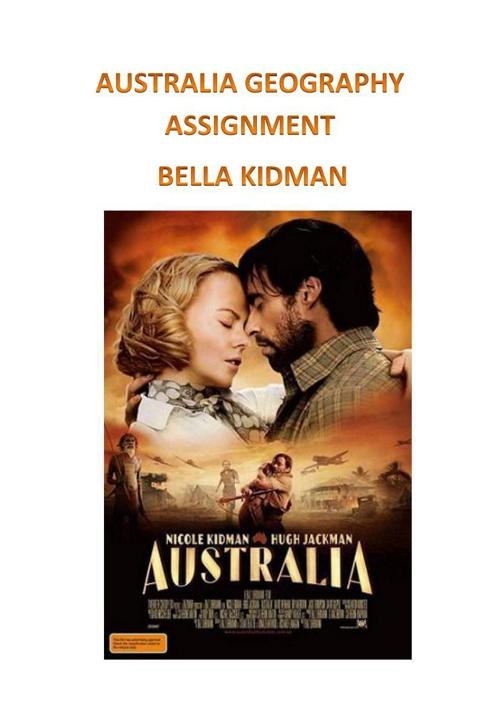 Geography Australia Bella Kidman 9S