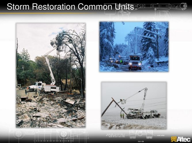 DOT units for storm restoration