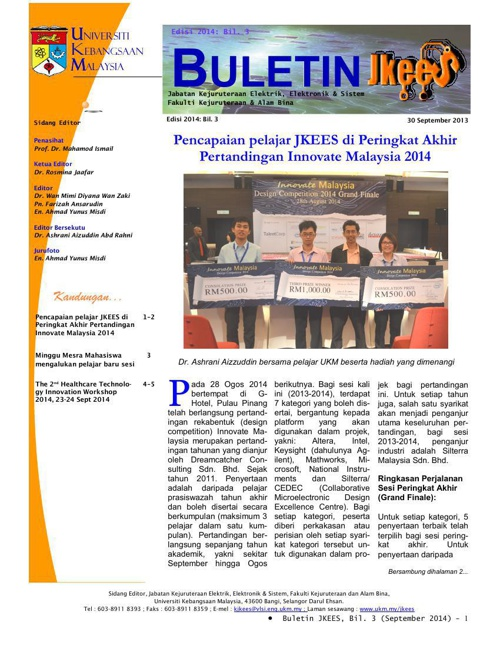 Buletin JKEES Edisi Sept 2014