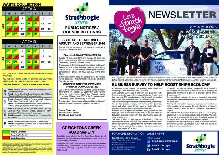 Love Strathbogie Newsletter - 29082016