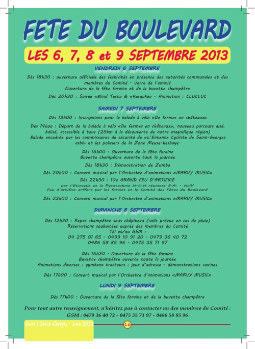 Journal communal du mois de juin 2013