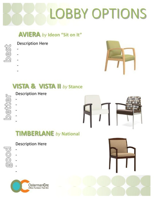 OstermanCron Healthcare Furniture Options