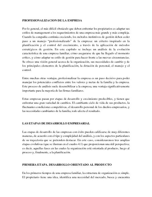 4.1 Profesionalización de la empresa familiar
