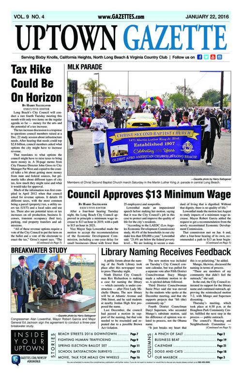 Uptown Gazette  |  January 22, 2016