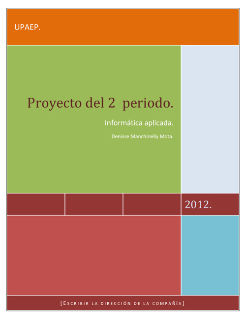Proyecto del 2° periodo.
