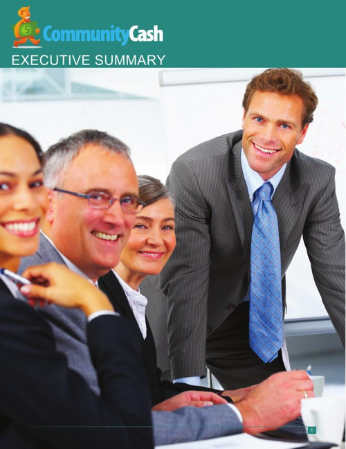 Community Cash Executive Summary