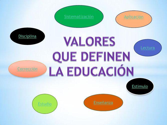 valores que definen la educacion