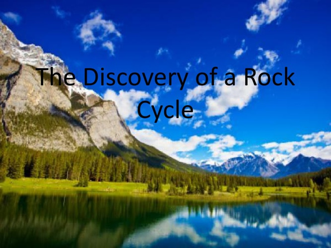 ROCK CYCLE BY KIMBERLY