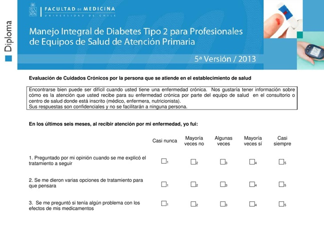 Evaluaci�n de los cuidados cr�nicos por el paciente, PACIC _trad