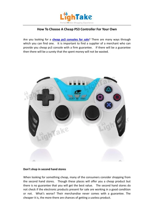 How To Choose A Cheap PS3 Controller For Your Own