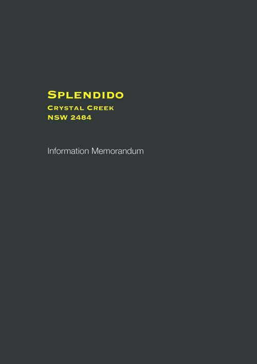 Spendido Information Memorandum