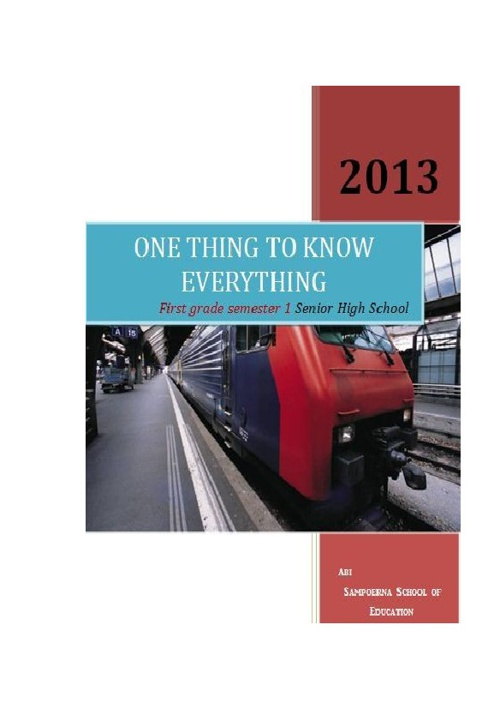 one thing to know everything abi's ebook