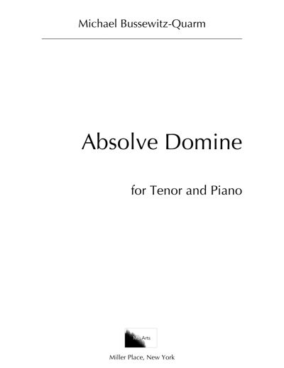 """Absolve Domine"" (Tenor Solo)"