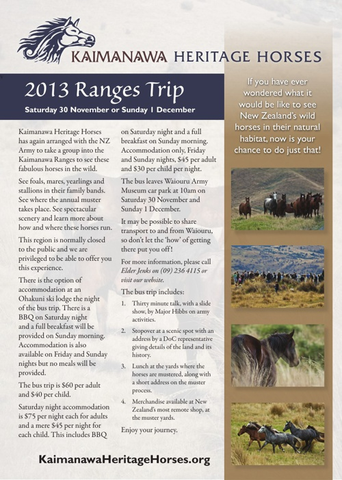 KHH 2013 Ranges Trip Info and Registration Form