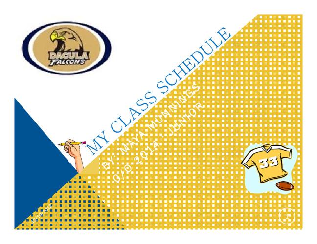 Maya's Class Schedule FlipBook