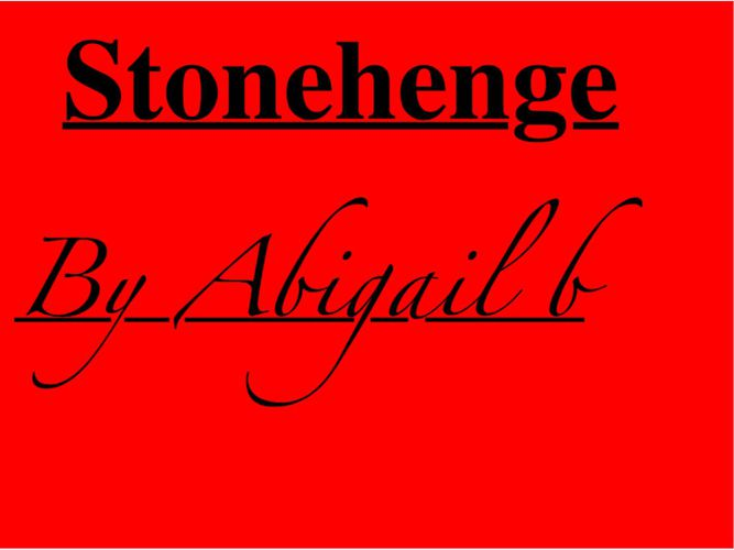 Abi Stonehenge