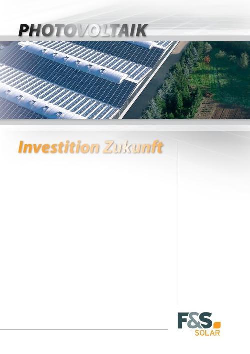 F&S solar - Imagebroschüre