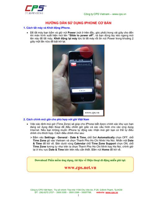 Hướng dẫn sử dụng iPhone căn bản