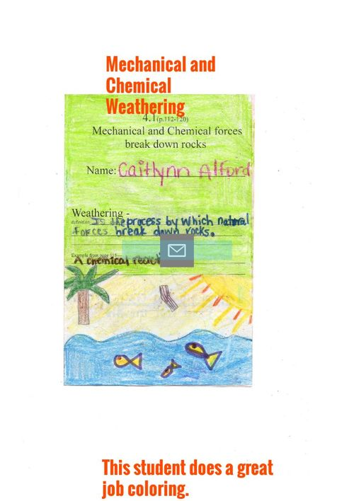 Mechanical and Chemical Weathering