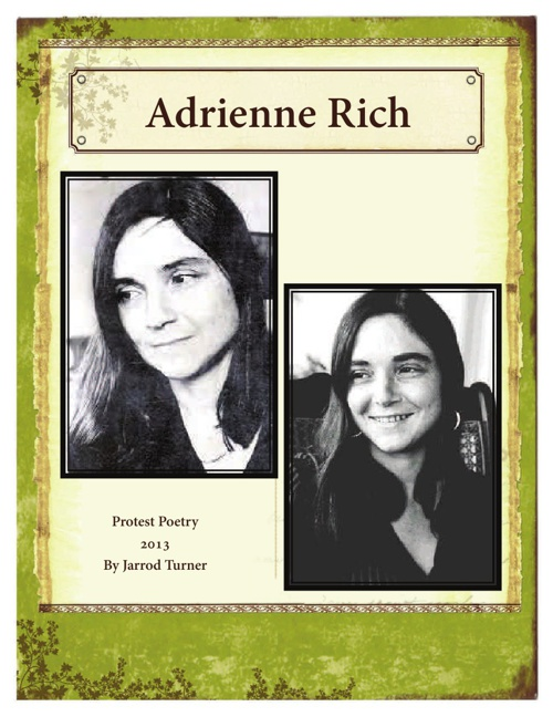 Adrienne Rich Protest Poetry