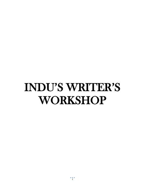 Indu's Writer's workshop