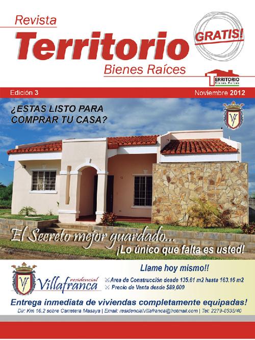 Edicion 3 - Noviembre Revista Territorio Bienes Racies