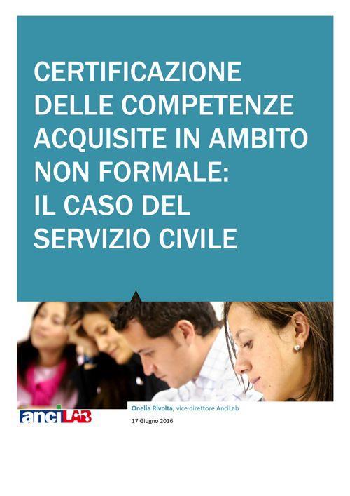 ANCILAB - Certificazioni delle competenze  Servizio Civile
