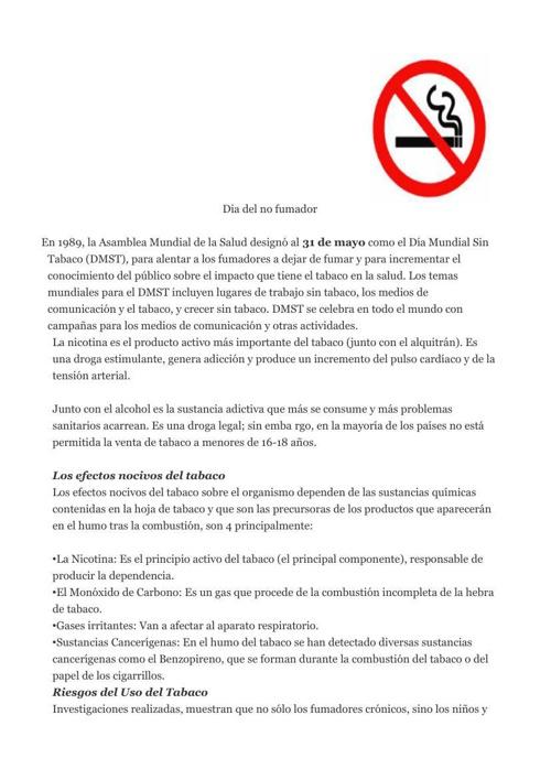Dia del no fumador