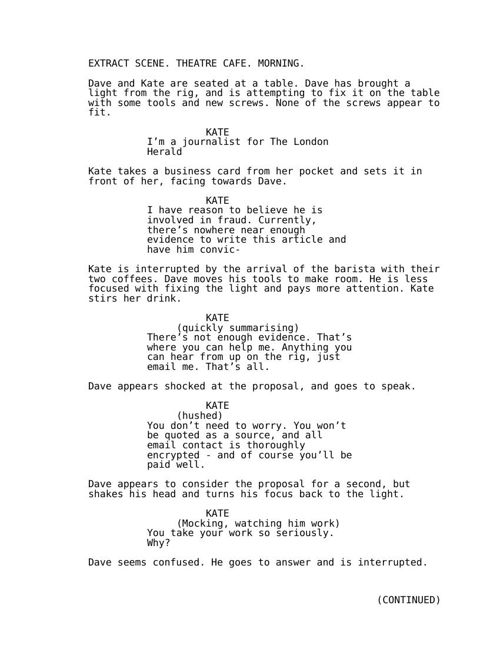 TD - Kate Audition EXTRACT