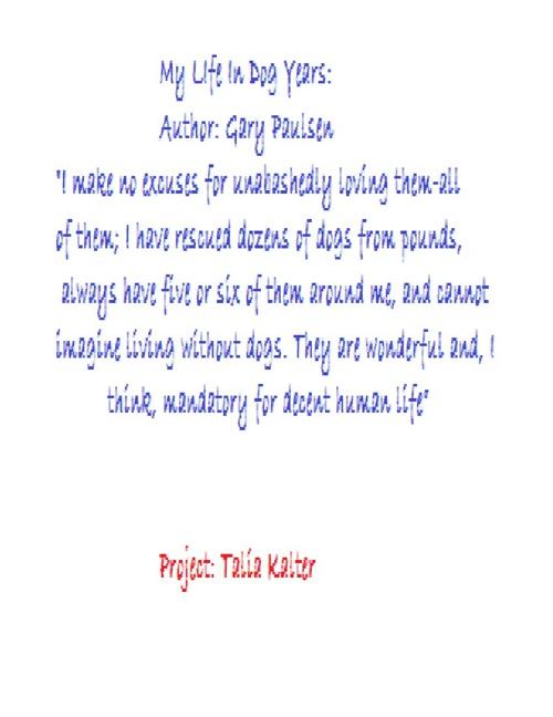 Talia Kalter's Non-Fiction Book Report