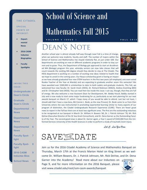 SSM Fall 2015 Newsletter