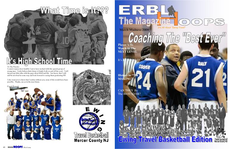 2009 ERBL Travel Basketball Team Magazine