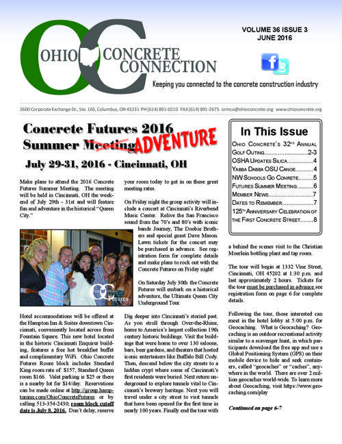 June 2016 Concrete Connection Newsletter