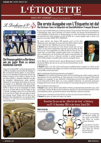 L'ÉTIQUETTE - Derksen Zeitung Ausgabe #01
