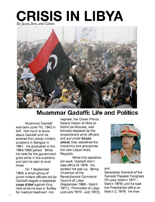 Crisis In Libya