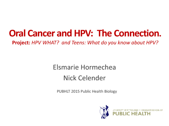 HPV What? and Teens: What do you know about HPV?