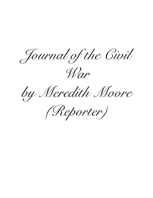 Civil War Flipsnack - Meredith Moore