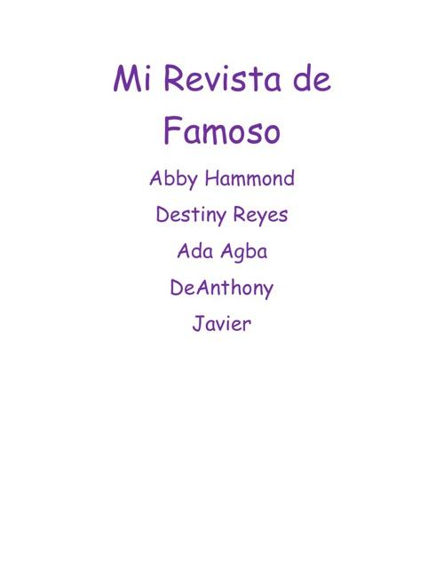 Period 7 Group D Revista