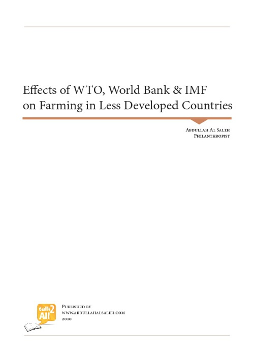 Effects of WTO, World Bank and IMF