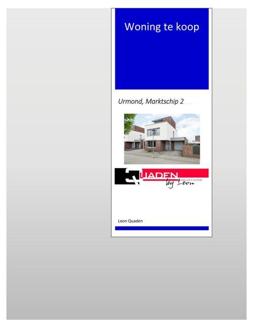 Quaden Makelaars - Urmond - Marktschip 2 - Presentatieboekje