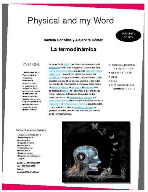 revista sobre termodinamica